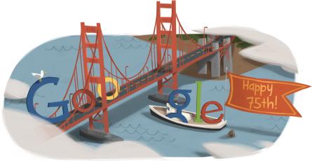 金门大桥75周年庆GOOGLE图标