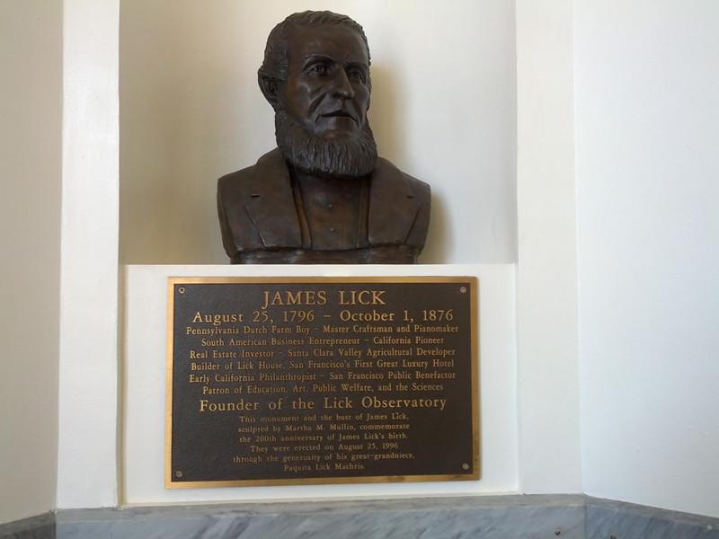 詹姆斯·利克James Lick铜像Lick Observatory