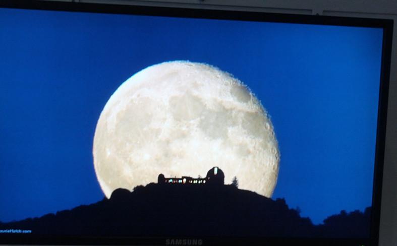 Lick Observatory moon