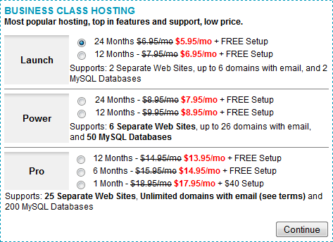 inmotion business class hosting