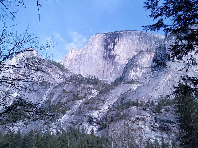 half dome from mirror lake