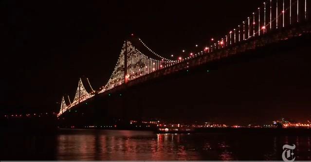 旧金山新海湾大桥灯饰