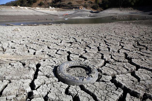加州干旱 圣何塞Almaden Reservoir