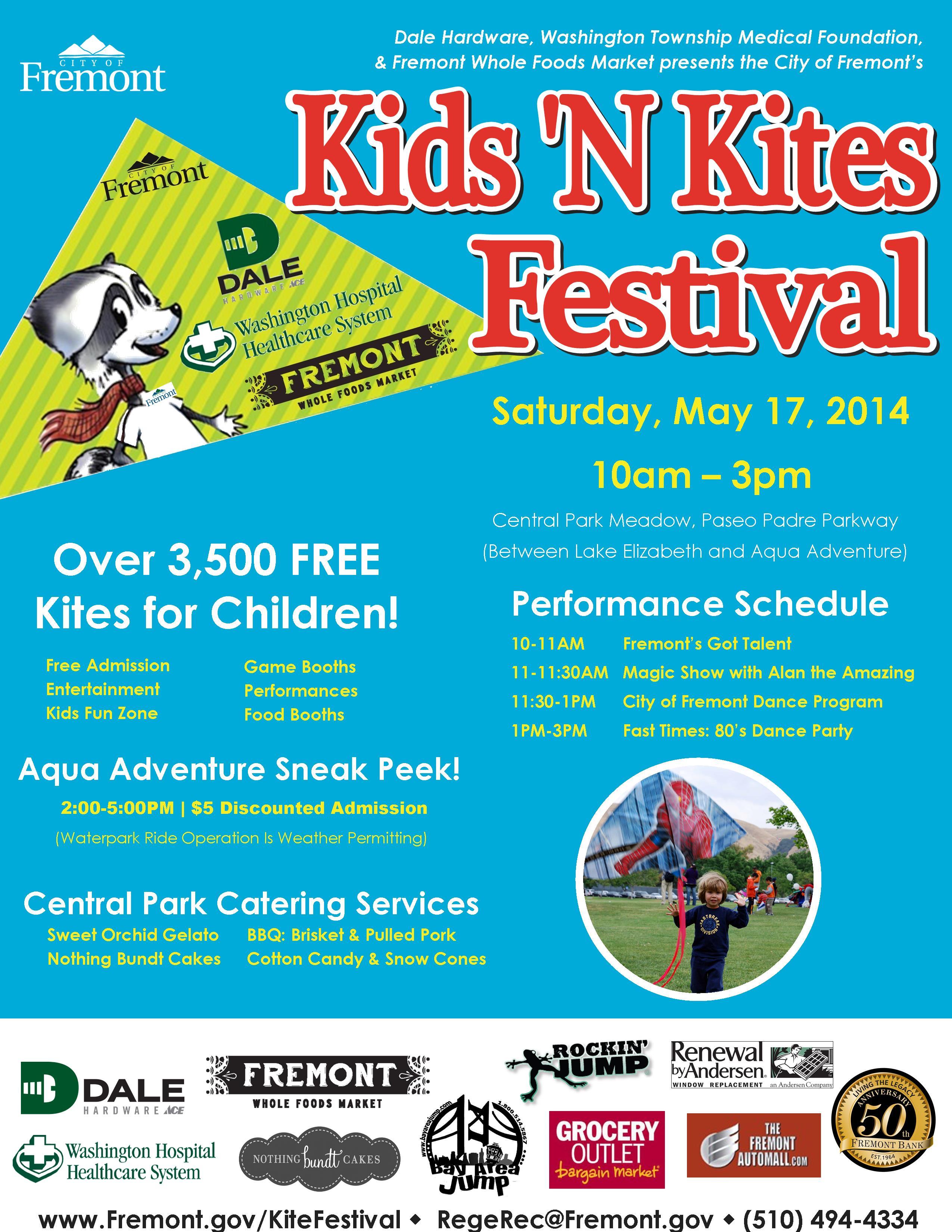 Fremont Kids 'n Kites Festival flier
