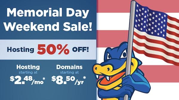 鳄鱼主机美国阵亡将士纪念日(Memorial Day,原名纪念日,或悼念日)促销