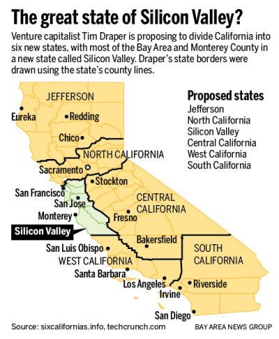 california to be six states