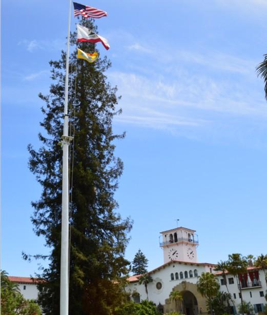 santa barbara county courthouse_flag