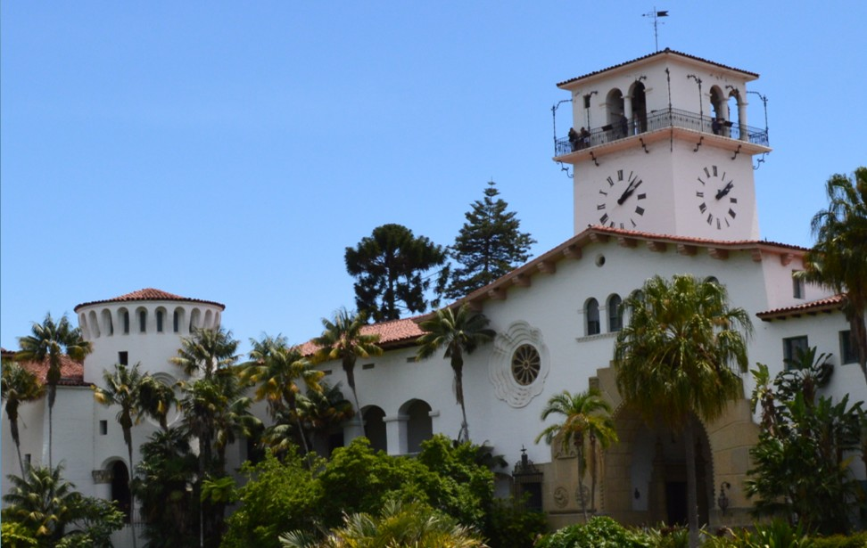 santa barbara county courthouse_right wing from back