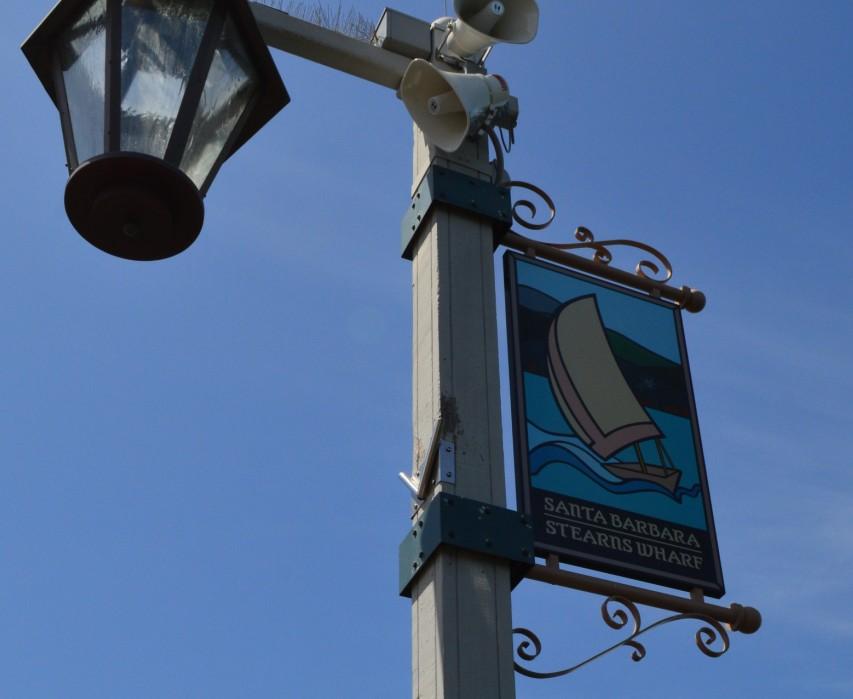 santa barbara stearns wharf_sign